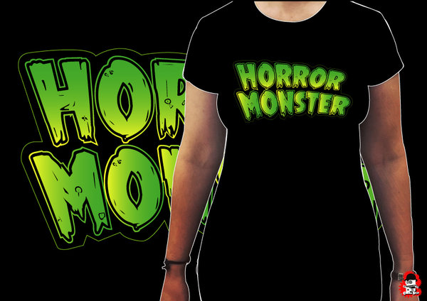 Camiseta Chica Horror Monster