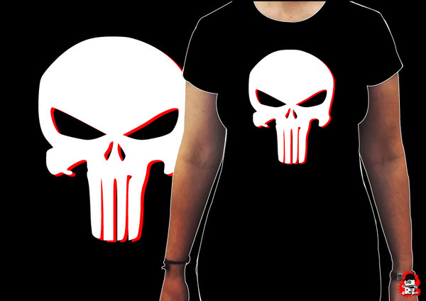 Camiseta Chica Punisher
