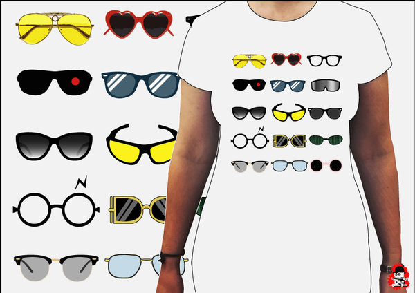 Camiseta Chica Movies Glasses