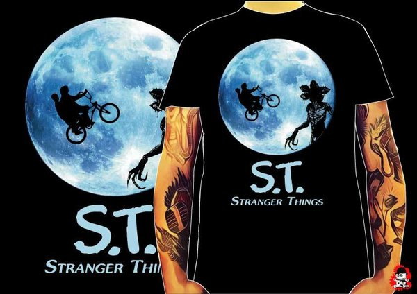 Camiseta Stranger Things ET