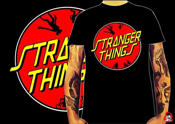 Camiseta Stranger Things Santa Cruz