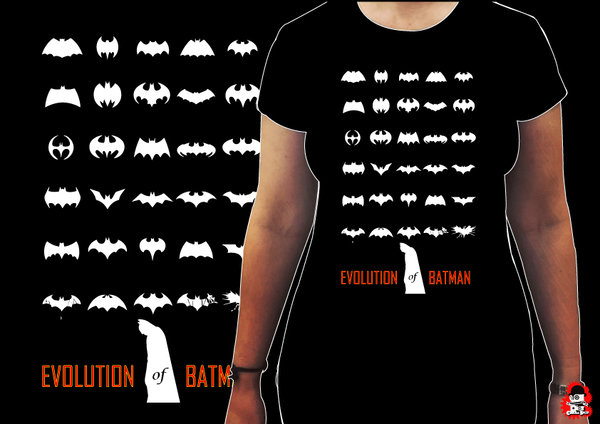 Camiseta Chica Batman Evolution