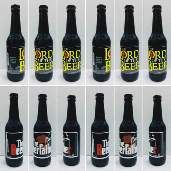 Pack 12 unids. Negras - 6 Beerfahter ( Black Ipa) + 6 Lord of the Beer (Stout)