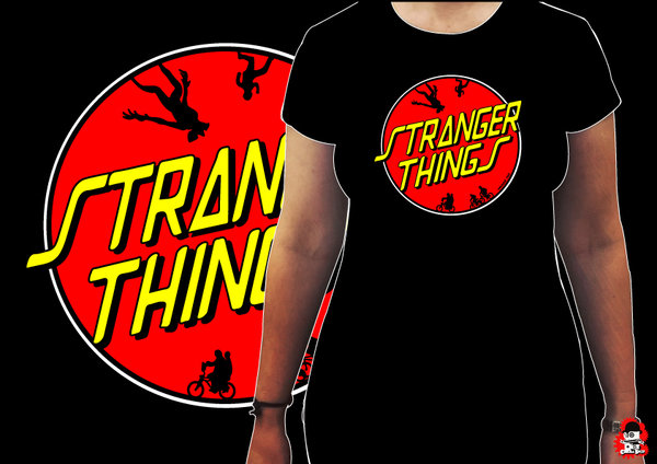 Camiseta Chica Stranger Thing Santa Cruz